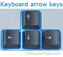 Клавиши со стрелками на клавиатуре