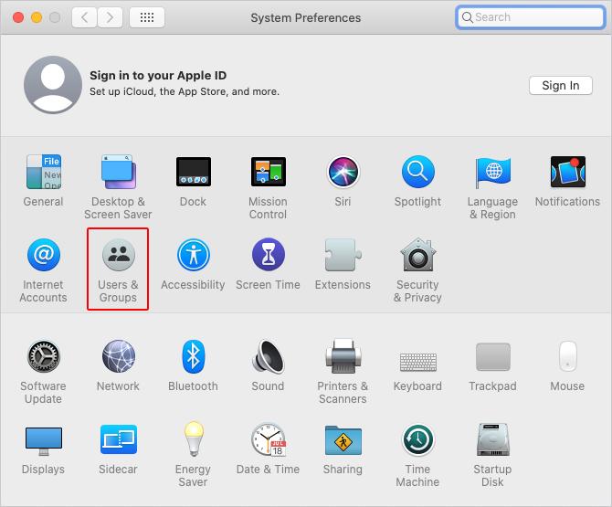 Пользователи & amp; Значок групп в macOS.