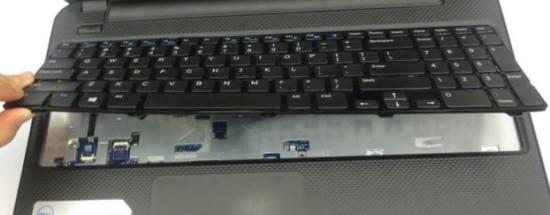 Поднятие клавиатуры ноутбука