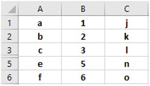 Скрытая строка 4 в электронной таблице Excel