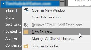 Создать новую папку вне папки