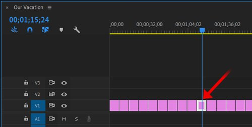 Премьера выберите клип на шкале времени