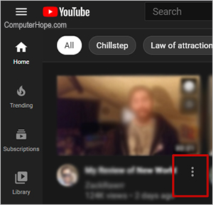 YouTube кебаб меню