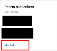 Недавние подписчики YouTube