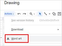 Word Art в Документах Google