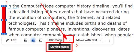 Поле для рисования Word Art в Документах Google