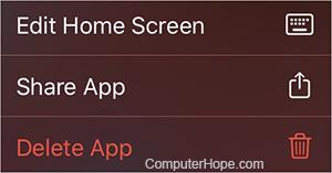 iPad удалить приложение