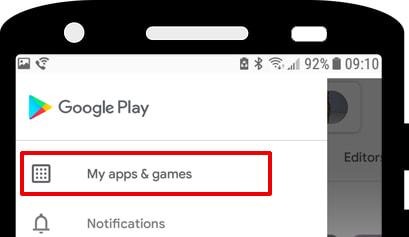 Play Store Мои приложения