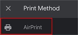Селектор AirPrint