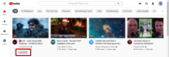 YouTube Live, прямо сейчас